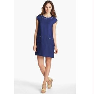 Kate Spade Thelma Mod Navy Mini Shift Dress M 8